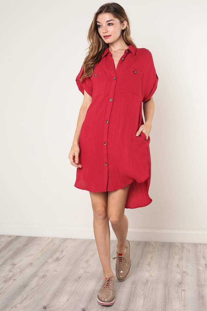 dresses Kellie Sleeveless Shirt Dress