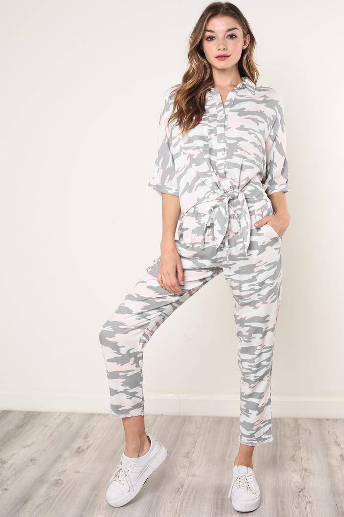 Bottoms Mathilda Soft Camouflage Pants