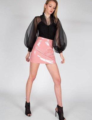 Skirt Vinyl Mini Skirt
