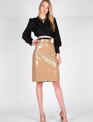 Skirt Midi Vinyl Skirt