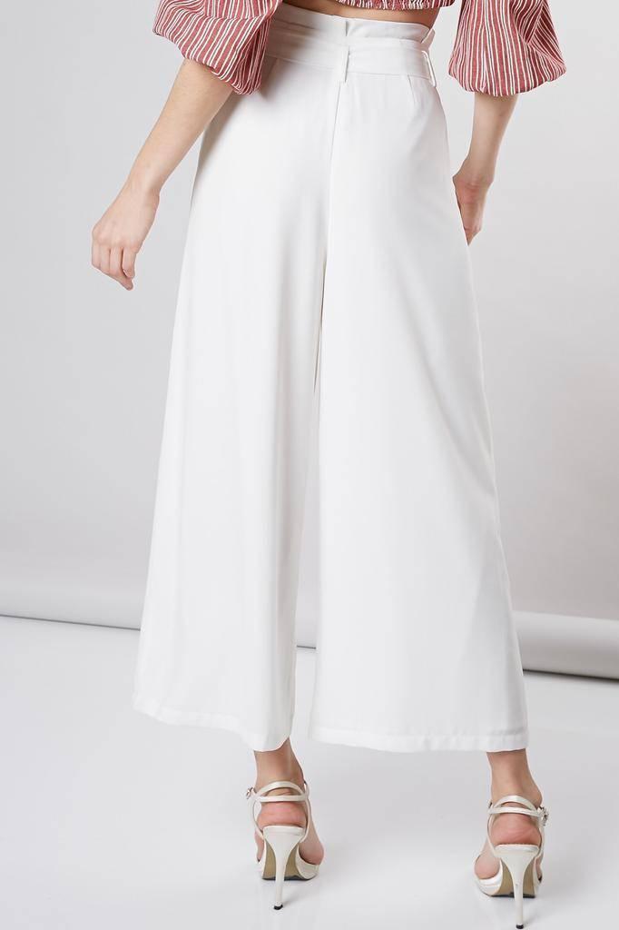 Bottoms Eva Ribbon Belt Wide Pants