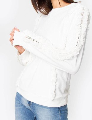 sweaters Houston Fringe Sweatshirt