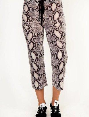 Bottoms Snake Drawstring Cropped Pants