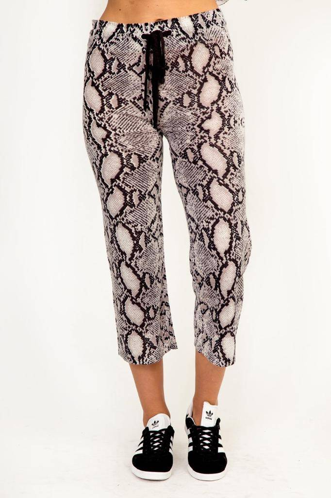 Bottoms Snake Drawstring Cropped Pants