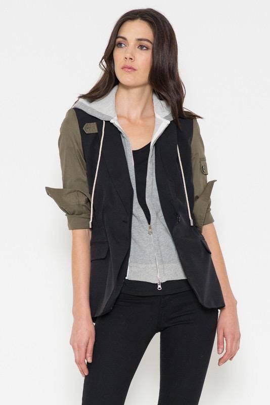 jackets Hoodie Insert Shirt Jacket