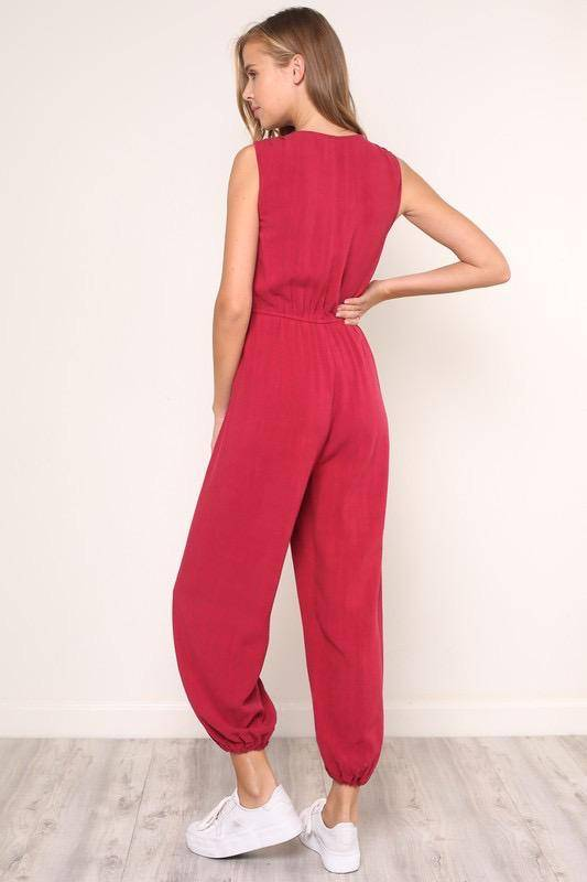 Jumpsuits Amely Plunnging Jumpsuit