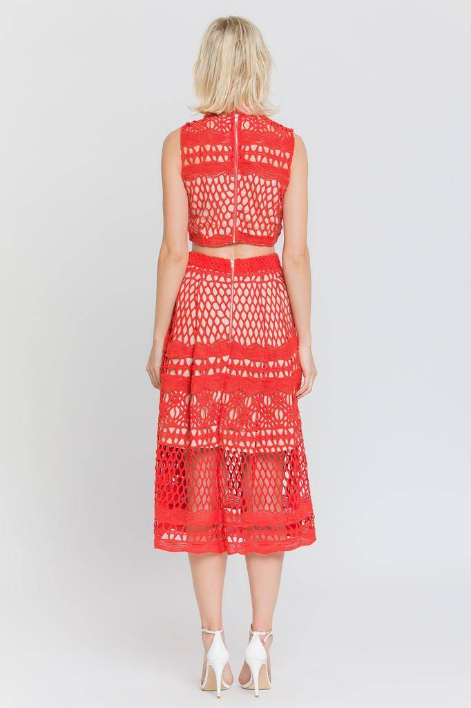 Skirt Caroline Lace Midi Skirt
