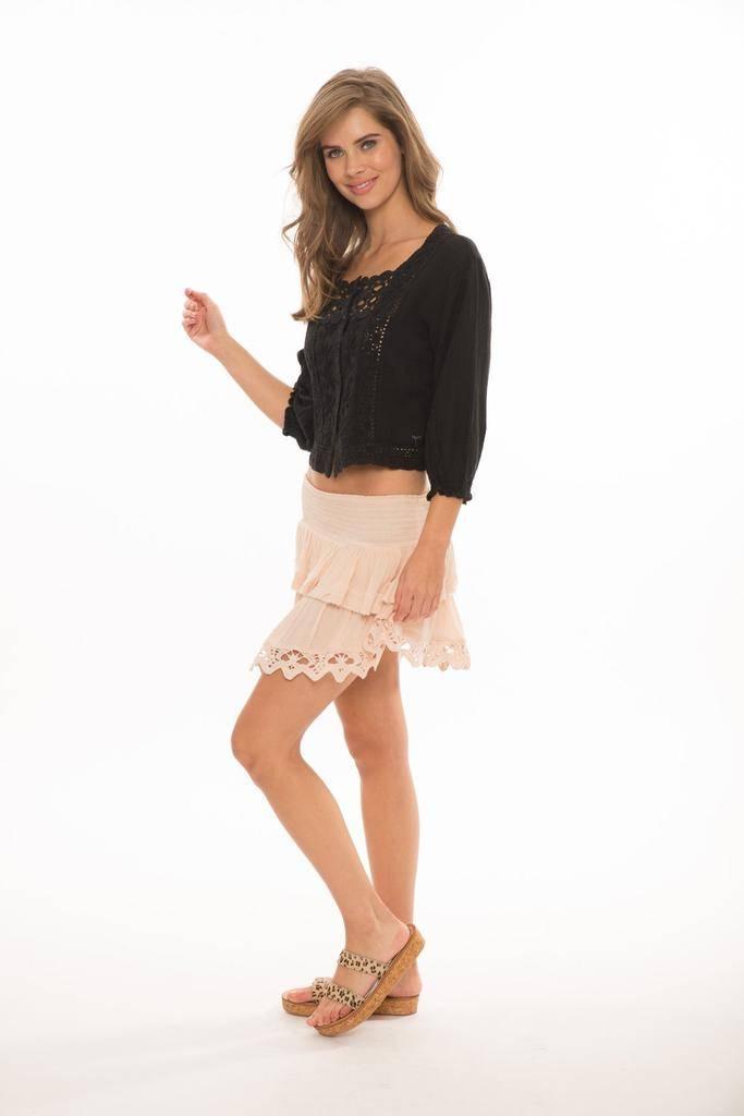 Skirt Entice Smocked Skirt