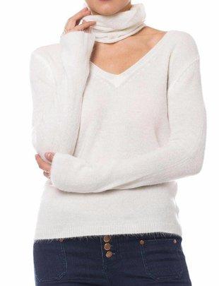 sweaters Fuzzy Choker Sweater