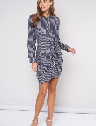 dresses Jana Tie Waist Shirt Dress