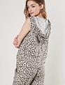 tops Leopard Drwastring Hoodie