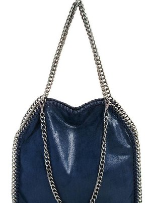 Handbags Chain Accent Metallic Handbag