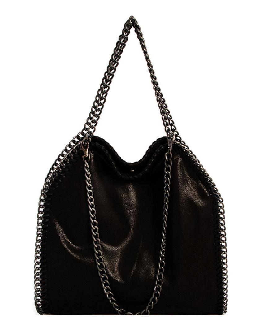 Handbags Chain Accent Metallic Handbag