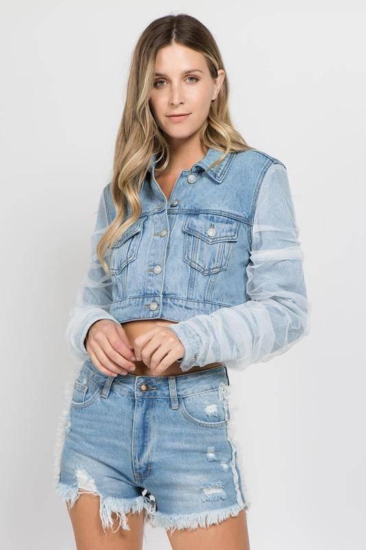 jackets Jada Crop Denim Jacket