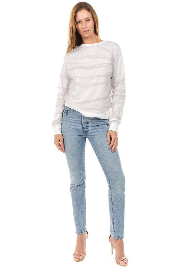 sweaters Riley Sweatshirt W/ Mesh Overlay