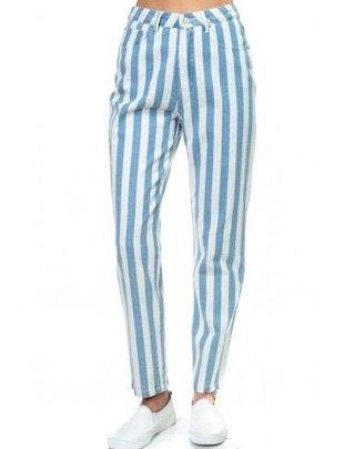 Bottoms Kaylee Stripe Denim Pants