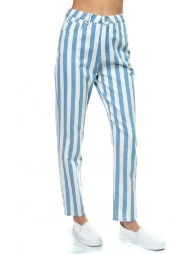 Bottoms Kaylee Stripe Denim Pants