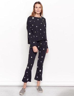 sweaters Stars Cut Off Sweatshirt