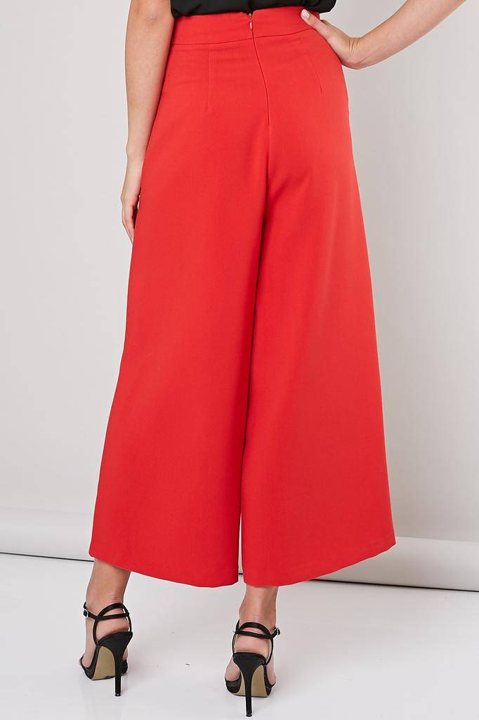 Bottoms Alix Point Button Wide Pant