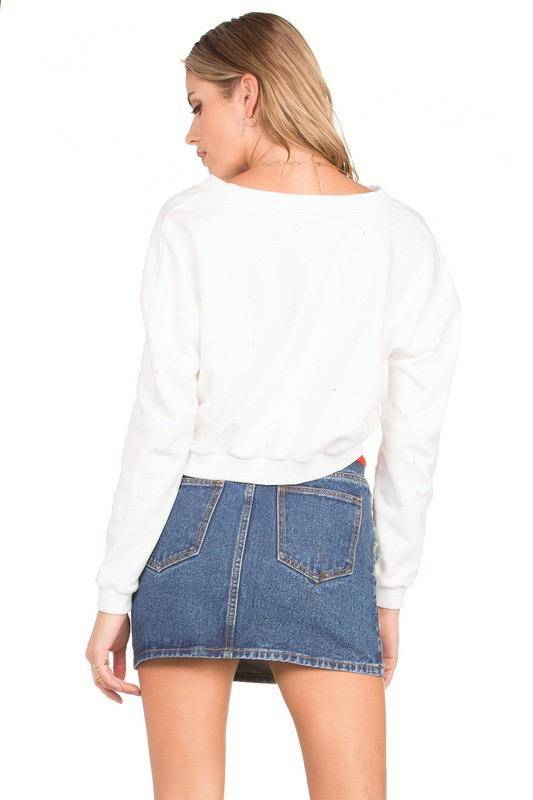 sweaters Taylor Lace Up Sweater