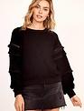 sweaters Fringe Sleeve Sweater