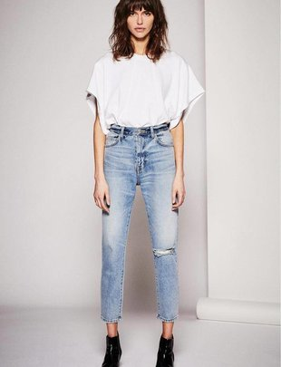 Premium denim The Vintage Cropped Slim Jean