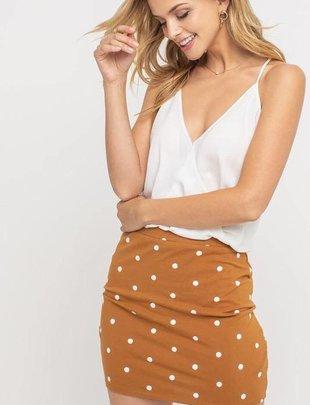 Bottoms Polkadot  Mini Skirt