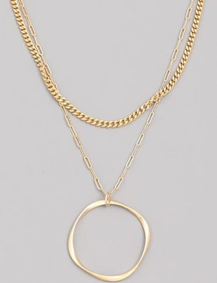 neckleces Chain Twist Hoop Necklace