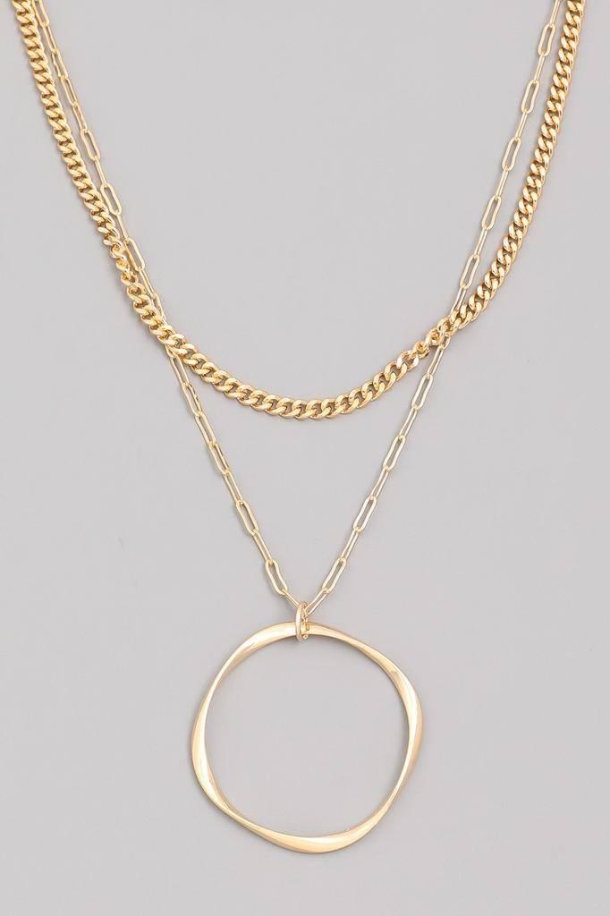 neckleces Chain Twist Hoop Necklace
