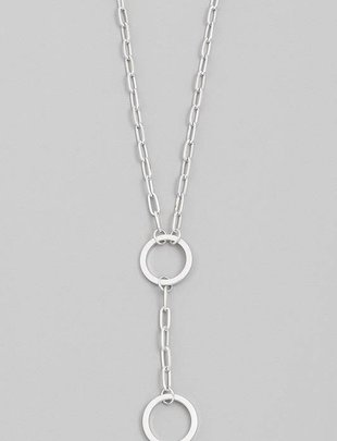 neckleces Double Ring Necklace