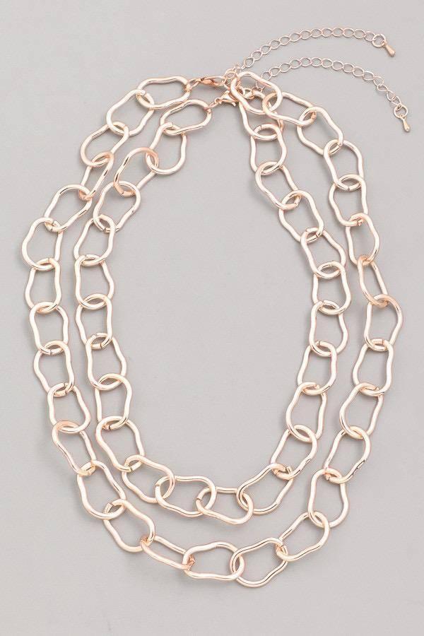 neckleces Double Chain Choker Necklace
