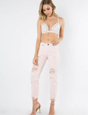 Bottoms Rosalie Distressed Pants