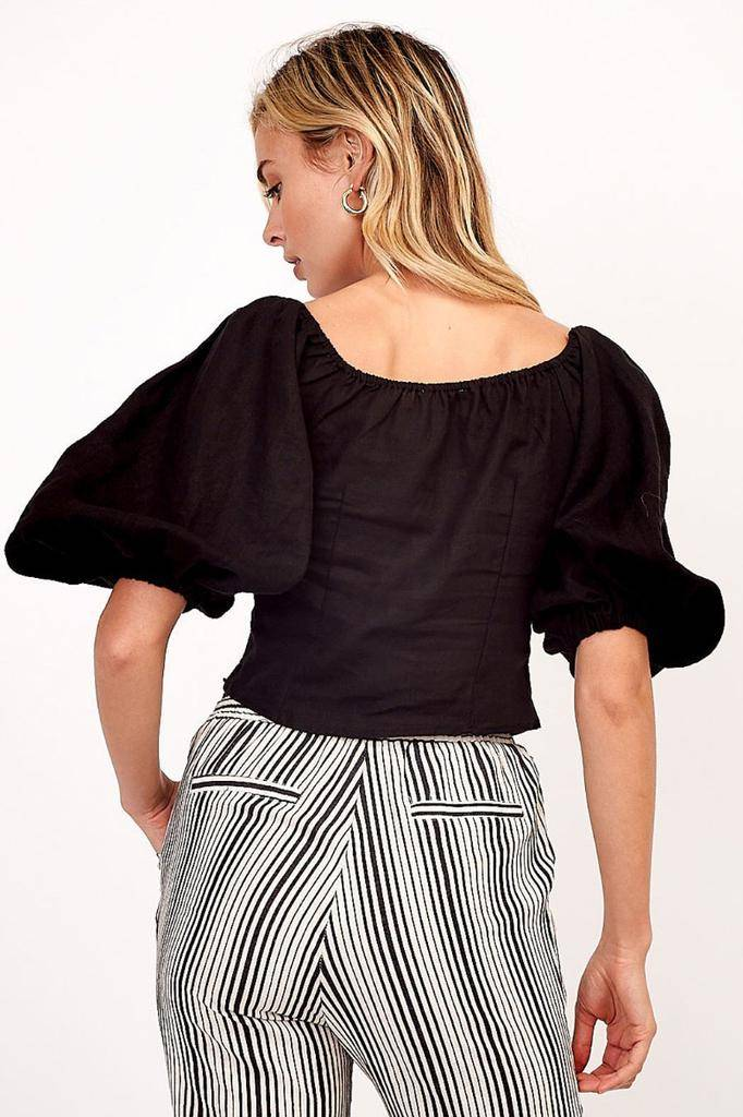 tops Nova Bubble Sleeve Top