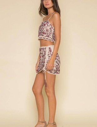 Designer Genevieve Drawstring Skirt