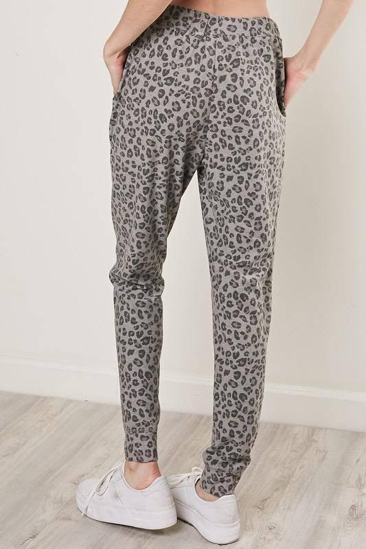 Bottoms Leopard Drawstring Jogger