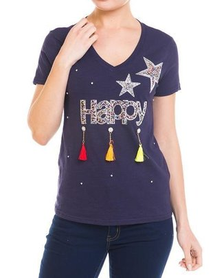 Shirt Happy Tassel T-Shirts