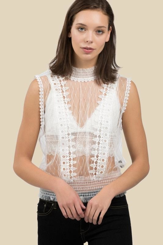 tops Pauline Sheer Top