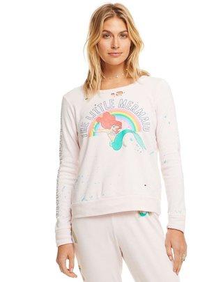 tops Mermaid Rainbow Fleece