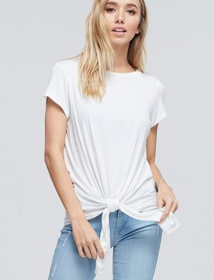 tops Julia Tie Front Top