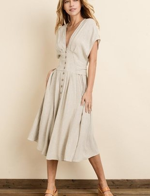 dresses Emila Button Down Midi Dress