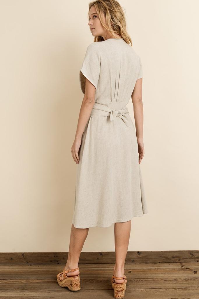 dresses Emila Button Down Midi Dress
