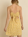 dresses Gian Flower Tie-Back Mini Dress