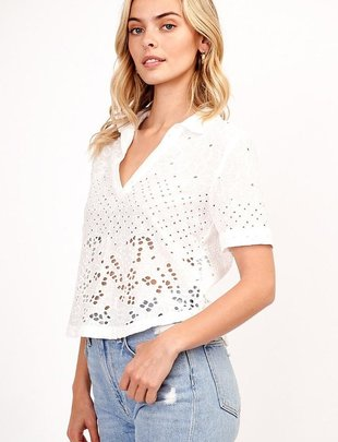tops Abaigael Embroidered Top