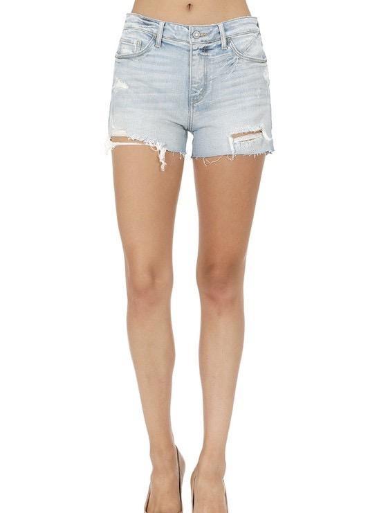 shorts Eve High Rise Cut Off Short