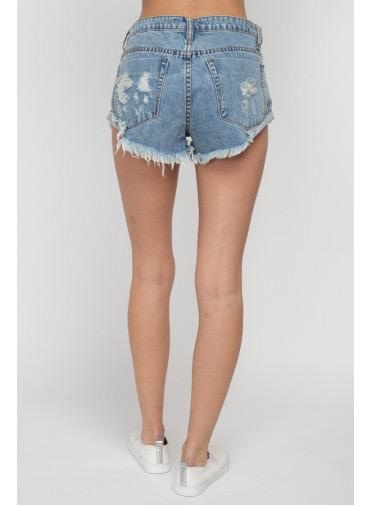 shorts High Waist Destroyed Short