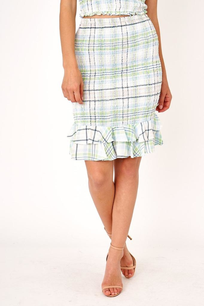 Skirt Aurelia  Plaid Midi Skirt