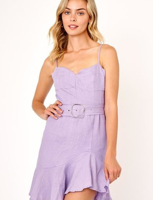 dresses Linen Belted Dress