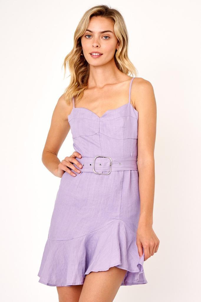 dresses Linen Belted Dress