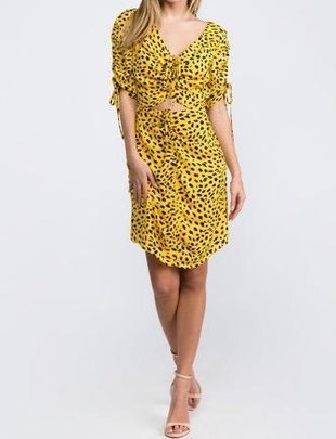 dresses Cheetah Cut Out Mini Dress