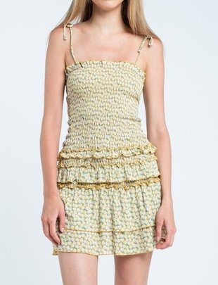 dresses Evie Smocked Ruffle Mini Dress